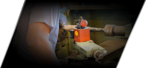 Refurbishing Pump Shaft on Lathe