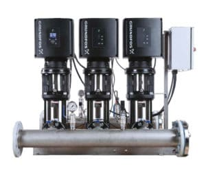 Grundfos three system e-pumps